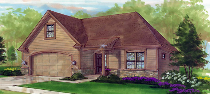 Single Family Detached Concept Patio Homes In The Steeplechase Neighborhood  At Stonehill Village.